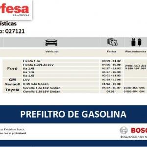 TE9006 PRE FILTRO DE GASOLINA BOSCH (25501)
