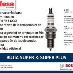 FR8DCX+ BUJIA SUPER PLUS BOSCH 1 ELECTRODO (18228)